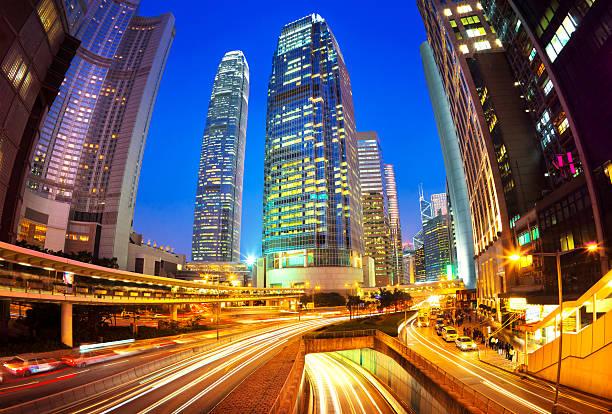 Hong Kong Business District Wall Art