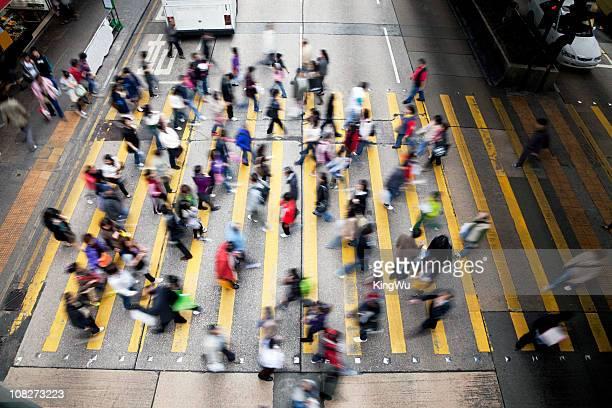Hong Kong anstrengenden Street.