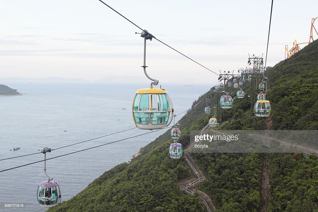 Hong Kong Cable Car : Foto stock