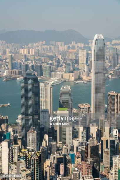 Hong Kong Central business district from Victoria peak