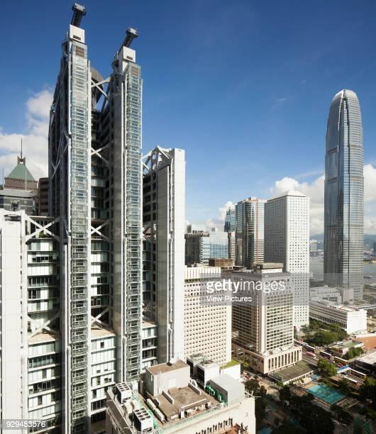 Hong Kong Central City Views, Hong Kong Central, Hong Kong. Architect: Various Architects, 2014. View of HSBC building alongside other buildings in...