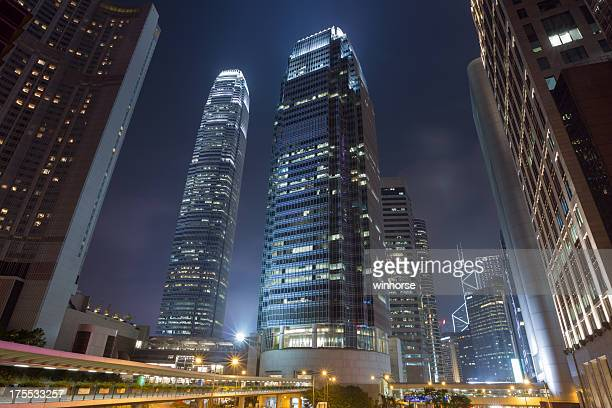 hong kong central district - two international finance center stock pictures, royalty-free photos & images