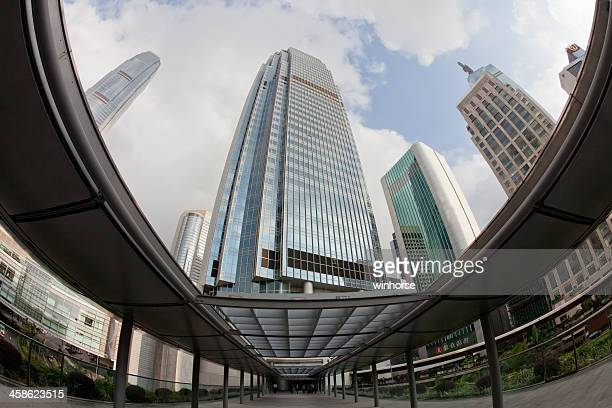 hong kong central district - hang seng index stock pictures, royalty-free photos & images