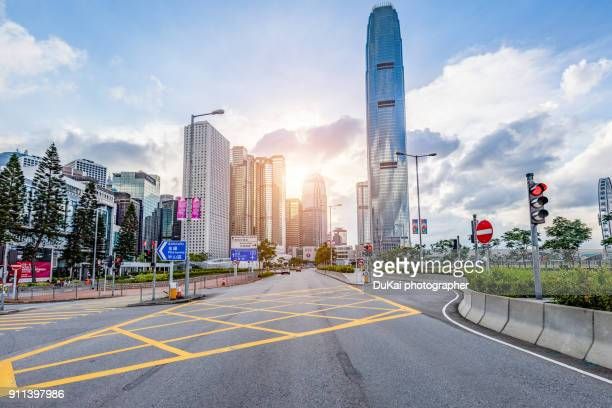 hong kong central road - central stock pictures, royalty-free photos & images