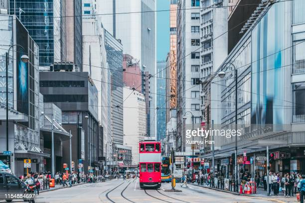 hong kong central streetscape,city life - hong kong stock pictures, royalty-free photos & images