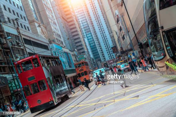 hong kong central streetscape,city life - central stock pictures, royalty-free photos & images