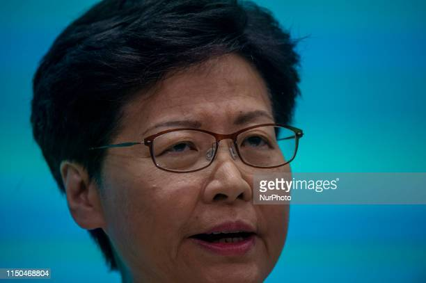 Hong Kong Chief Executive Carrie Lam Cheng Yuet-Ngor is seen during a press conference in Hong Kong, China. 18 June 2019. Today Carrie Lam Apologies...