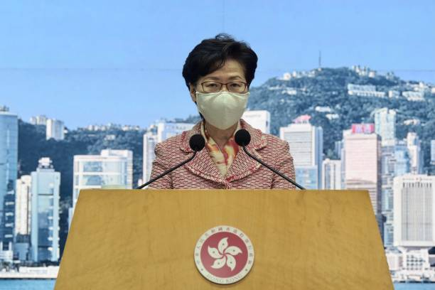 CHN: Carrie Lam Holds Press Conference In Hong Kong