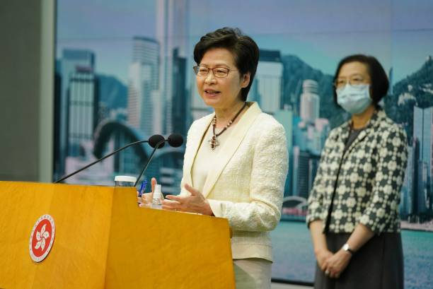 CHN: Hong Kong Chief Executive Carrie Lam Holds News Conference