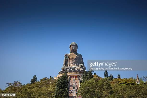hong kong, china at the tian tan buddha. - buddha stock pictures, royalty-free photos & images