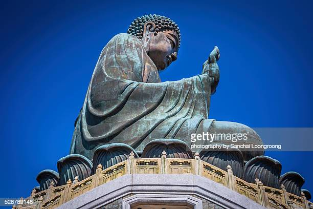 Hong Kong, China at the Tian Tan Buddha.