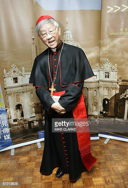 Cardinal Joseph Zen appears at a press conference in Hong Kong 30 March 2006. Cardinal Zen said the Vatican would have to make amends with Taiwan...