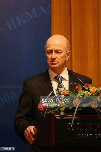 Glenn Stevens Governor Reserve Bank of Australia speaks at a Hong Kong Monetary Authority luncheon in Hong Kong 15 September 2006 The luncheon...