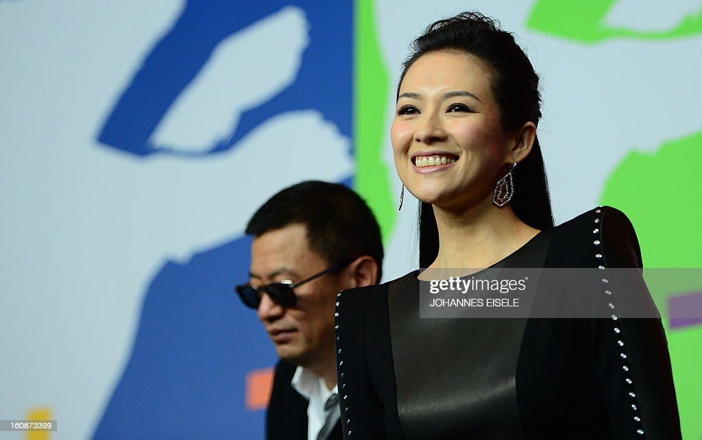 Hong Kong Chinese director Wong Kar-Wai (L), jury president of the 63rd Berlinale film festival, and Chinese actress Zhang Ziyi arrive for a press conference for their film 'Yi dai zong shi' (The Grandmaster) in Berlin, on February 7, 2013. The 63rd Berlin film festival opens with a gala screening of Chinese director Wong Kar Wai's martial arts epic about the mentor of kung fu superstar Bruce Lee.