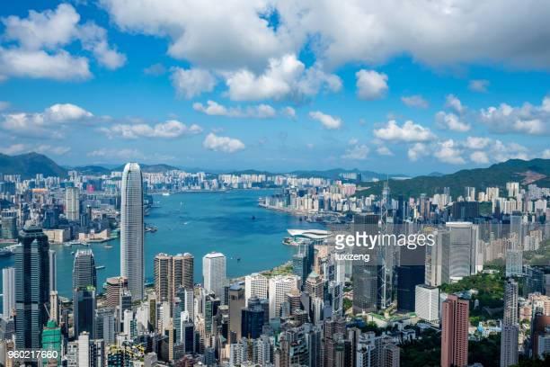 香港城市天際線 - hong kong 個照片及圖片檔