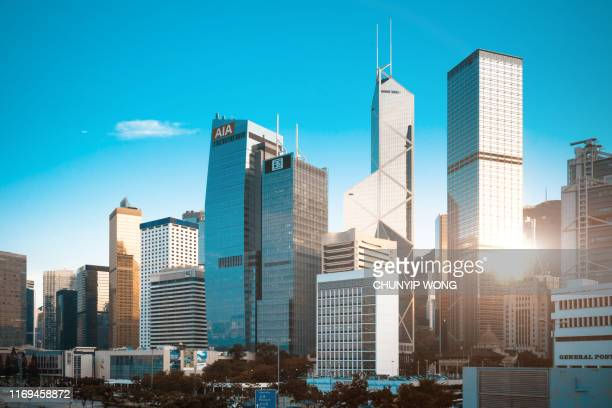 hong kong cityscape - central district hong kong stock pictures, royalty-free photos & images