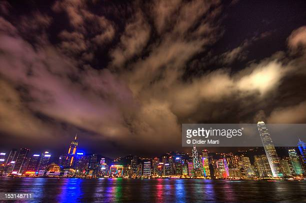 hong kong cityscape - didier marti stock photos and pictures