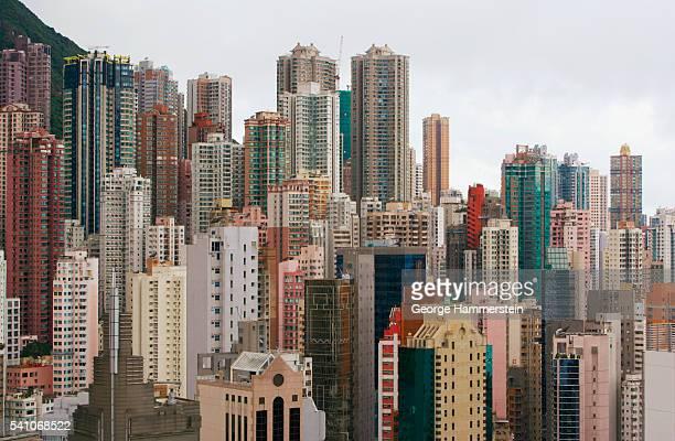 hong kong cityscape - hong kong photos et images de collection