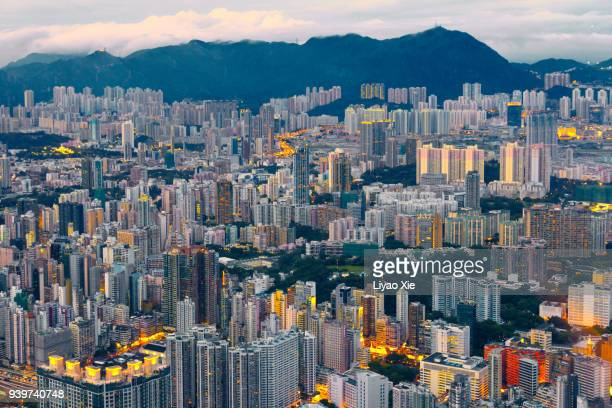 hong kong cityscape - liyao xie stock pictures, royalty-free photos & images