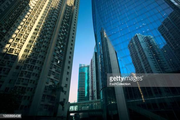 Hong Kong cityscape with modern office and apartment building