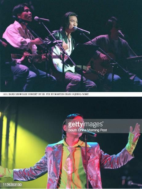 Hong Kong Coliseum rocks to the sounds of Faye Wong Chingman Shirley Kwan Suk E Alex To Takwai Tats Lau Yitat Anthony Wong Yiuming and Aaron Kwok...