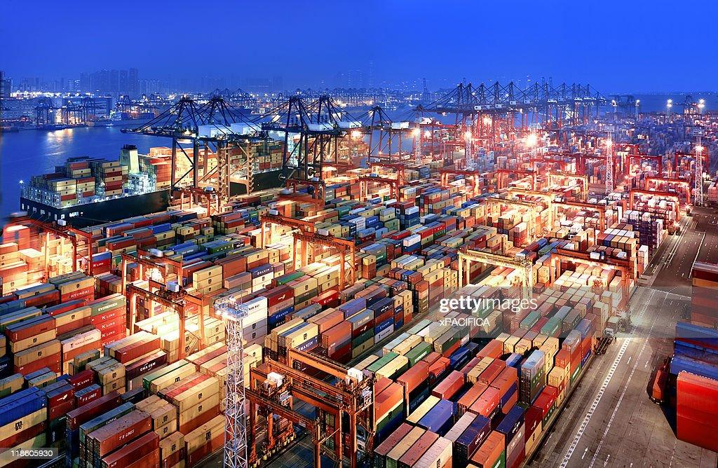 Hong Kong Container Terminal : Stock Photo