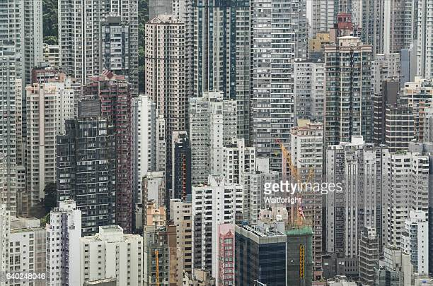 Hong Kong crowded buildings