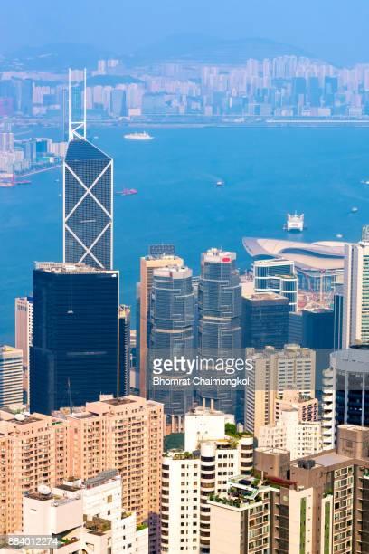 Hong kong downtown the famous cityscape in Hong Kong.