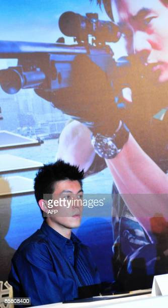 Hong Kong entertainer Edison Chen attends a press conference for the movie The Sniper in Singapore on April 5 2009 Chen saw his career destroyed by...