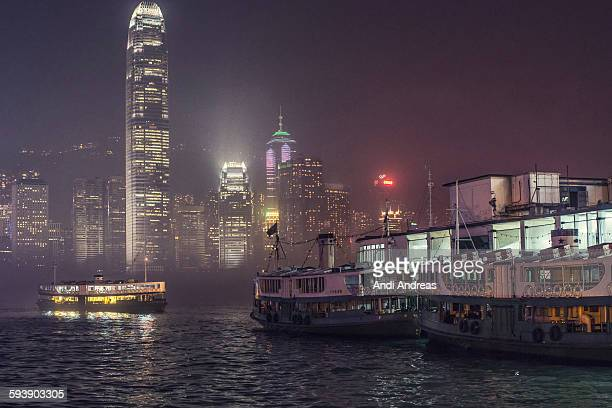 hong kong ferry pier - star ferry stock photos and pictures