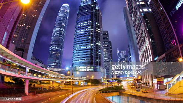 hong kong financial district - central stock pictures, royalty-free photos & images