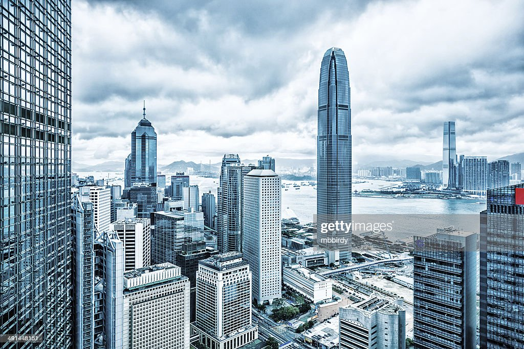 Hong Kong Financial District Stock Photo | Getty Images