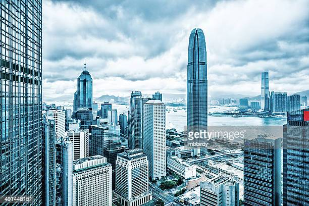 hong kong financial district - kowloon peninsula stock pictures, royalty-free photos & images