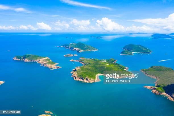 hong kong geographical park, island in sai kung, hong kong - national landmark stock pictures, royalty-free photos & images