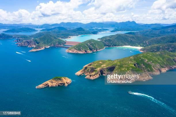 香港の地理的公園、島、シクン、香港 - ジオパーク ストックフォトと画像