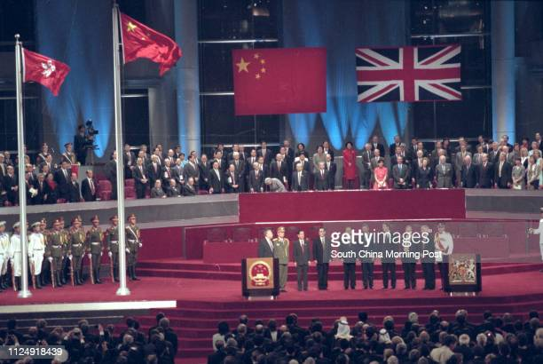 Hong Kong handover ceremony held at Hong Kong Convention and Exhibition Centre in Wan Chai