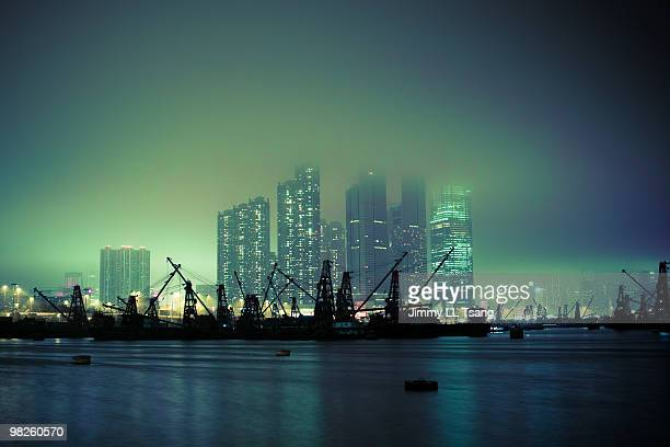 hong kong harbour - harbour stock pictures, royalty-free photos & images