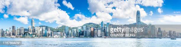 hong kong harbour view - hong kong stock pictures, royalty-free photos & images