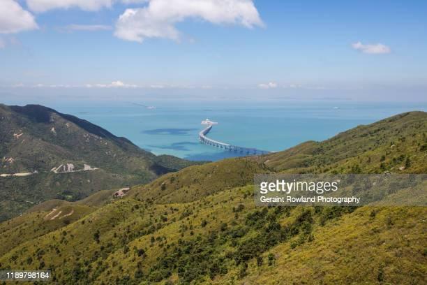hong kong hill views - lantau stock pictures, royalty-free photos & images