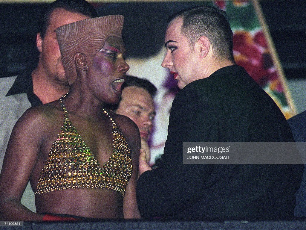 Eighties Pop Icons Grace Jones And Boy George Have A Heated Argument