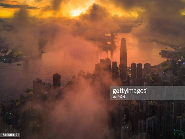 Hong Kong in foggy day, Mist