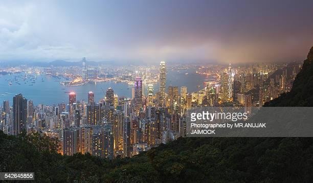 Hong Kong in panorama shot