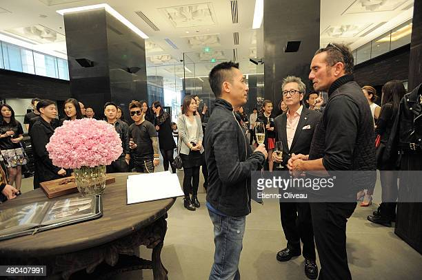 Hong Kong international actor Tony Leung, Chrome Hearts Beijing general manager Louis Tan and owner and designer of Chrome Hearts Richard Stark...