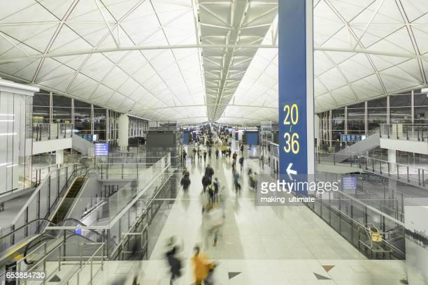hong kong international airport, china asia - hong kong international airport stock photos and pictures