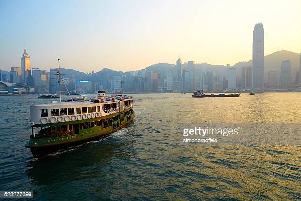 hong kong island and star ferry - star ferry stock photos and pictures