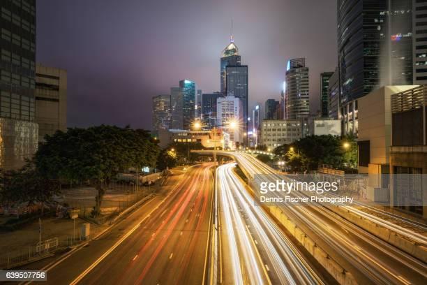 Hong Kong Island city lights
