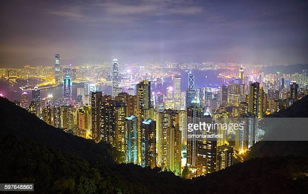 Hong Kong Island From The Peak