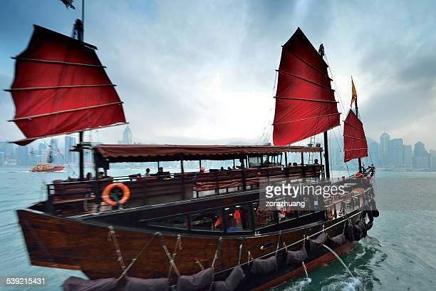 Hong Kong Junk boat