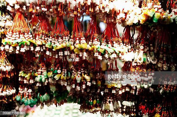 Hong Kong, keychain charms on display