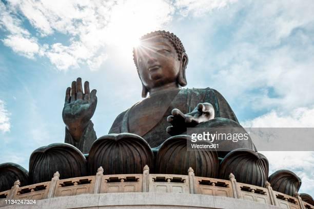 hong kong, lantau, ngong ping, tian tan buddha - buda fotografías e imágenes de stock